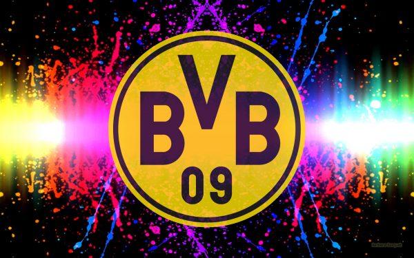 Colorful Borussia Dortmund football club wallpaper