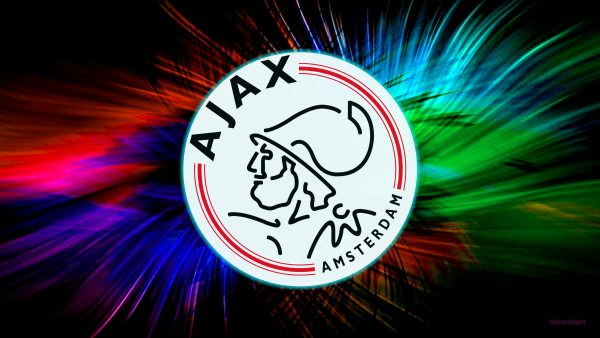 Colorful Ajax logo wallpaper