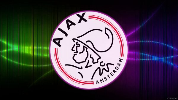 Dark Ajax wallpaper with huge logo
