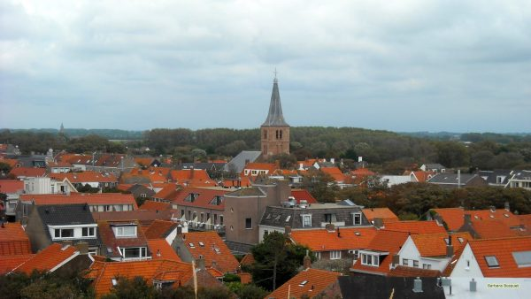 HD wallpaper Dutch village with church.