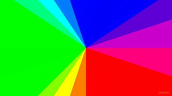 HD wallpaper with areas filled with all colors of the rainbow.