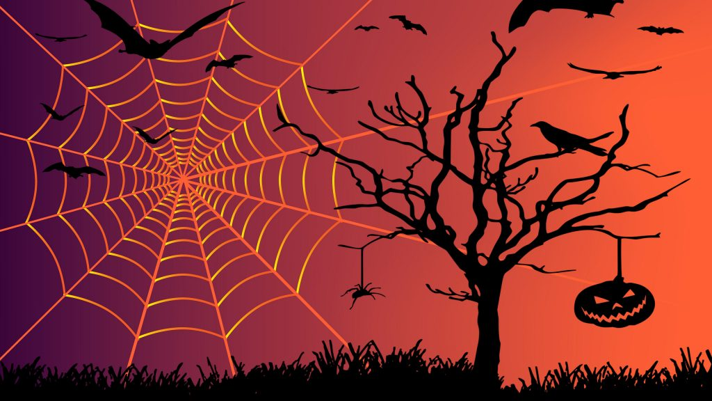 Halloween wallpaper spiders