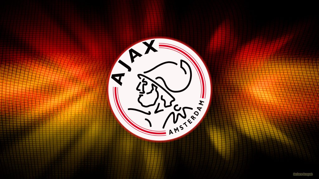 Red yellow Ajax football club wallpaper.