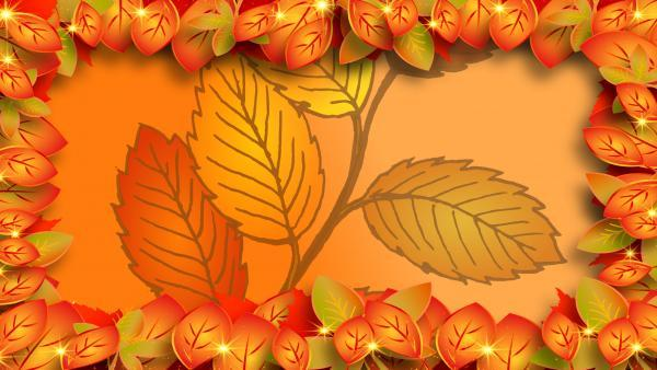 Autumn leave wallpaper
