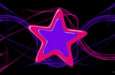 Purple star with pink border