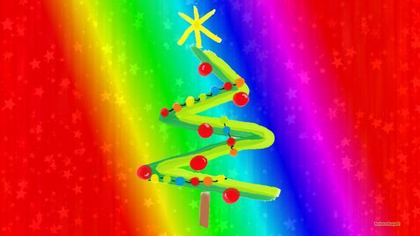 Christmas wallpaper tree with stars