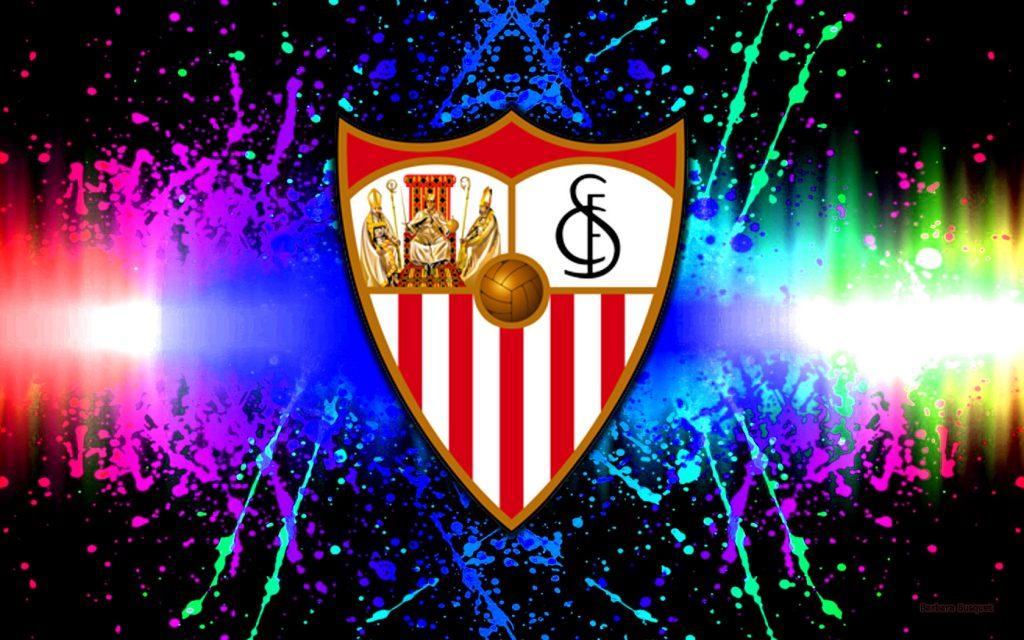 Colorful Sevilla football club wallpaper.