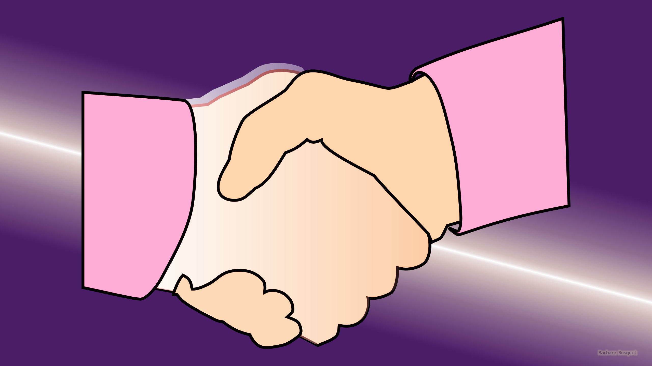 Friendship wallpaper with a handshake. The background is purple with a ...