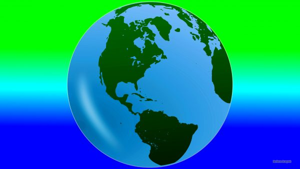 Blue green wallpaper with planet Earth.