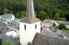 White church in Luxembourg