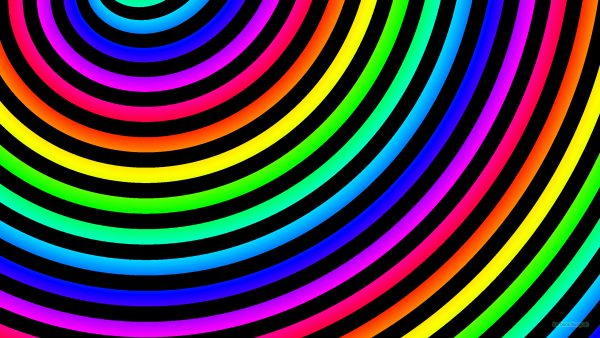Rainbow spiral wallpaper