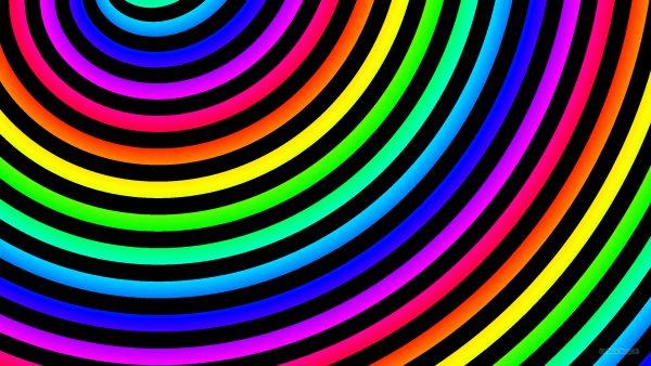 Rainbow spiral wallpaper