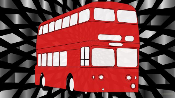 Red bus wallpaper
