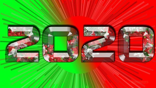 2020 green red wallpaper