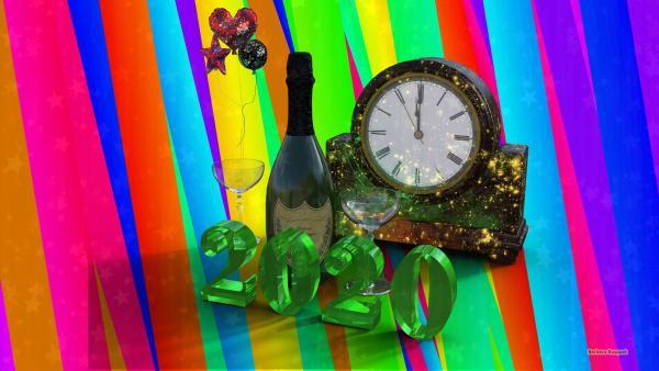 Colorfull happy new year wallpaper