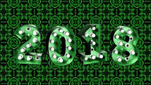 Green new year wallpaper