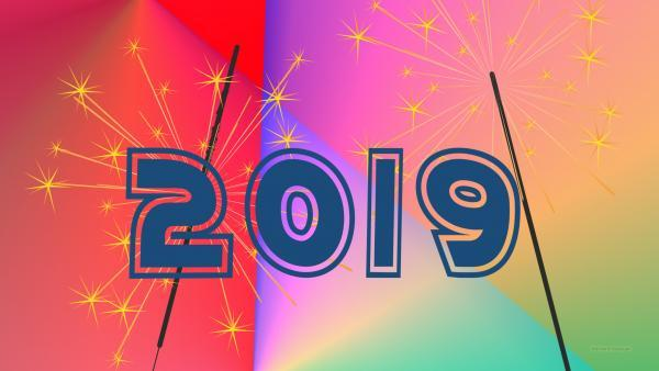 New year wallpaper 2019 sparklers