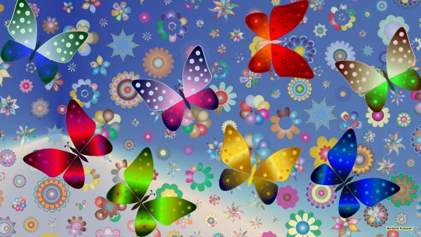 Butterfly pattern wallpaper
