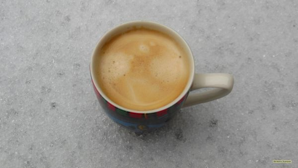 HD wallpaper coffee and snow