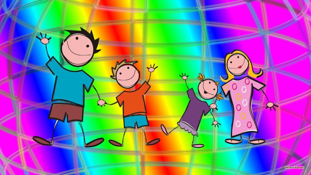 HD wallpaper happy family