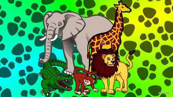 HD wallpaper wild animals in Africa