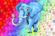 Colorful elephant wallpaper