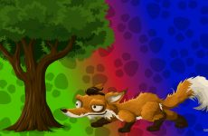 Fox under a tree HD wallpaper