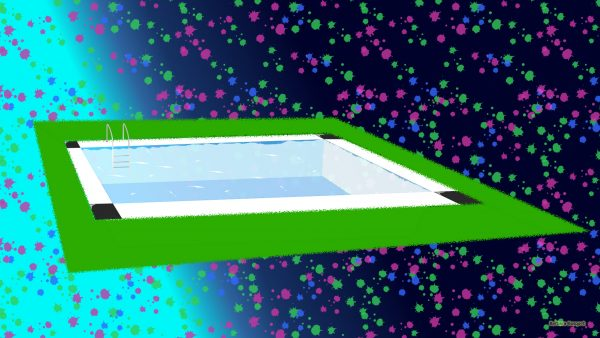 Blue green HD wallpaper with swimmingpool