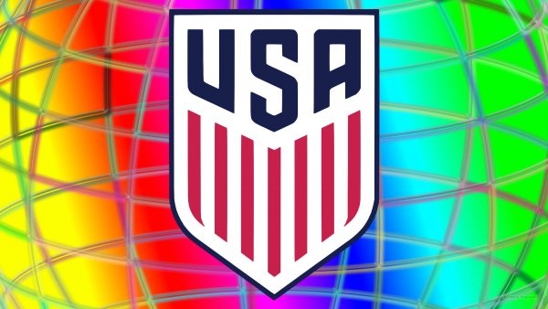 Colorful United States Soccer logo wallpaper