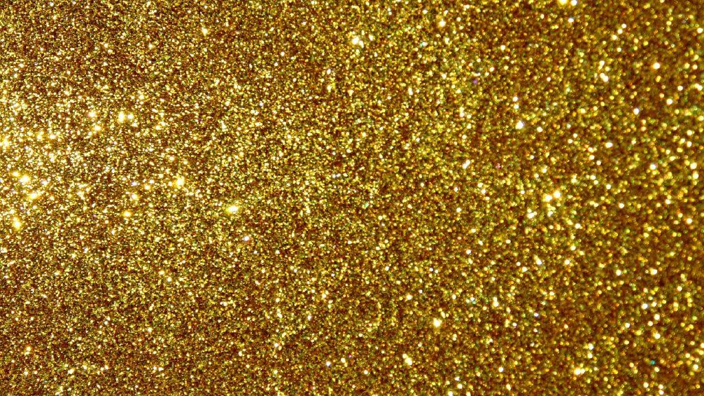 Gold glitter wallpaper