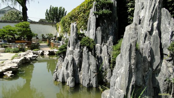 HD wallpaper with typically Chinese garden