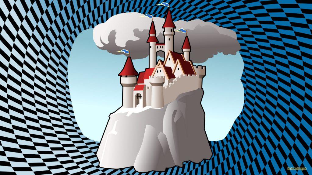HD wallpaper castle on a rock