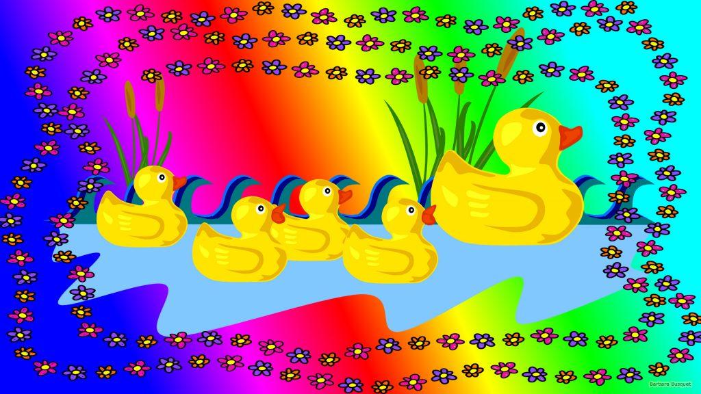 HD wallpaper duck with ducklings