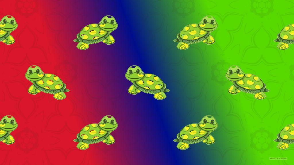 Turtle pattern wallpaper