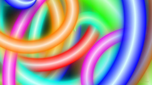 Colorful neon lights wallpaper