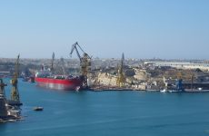 Big ship Malta harbor