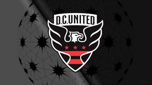 Black D.C. United football logo wallpaper