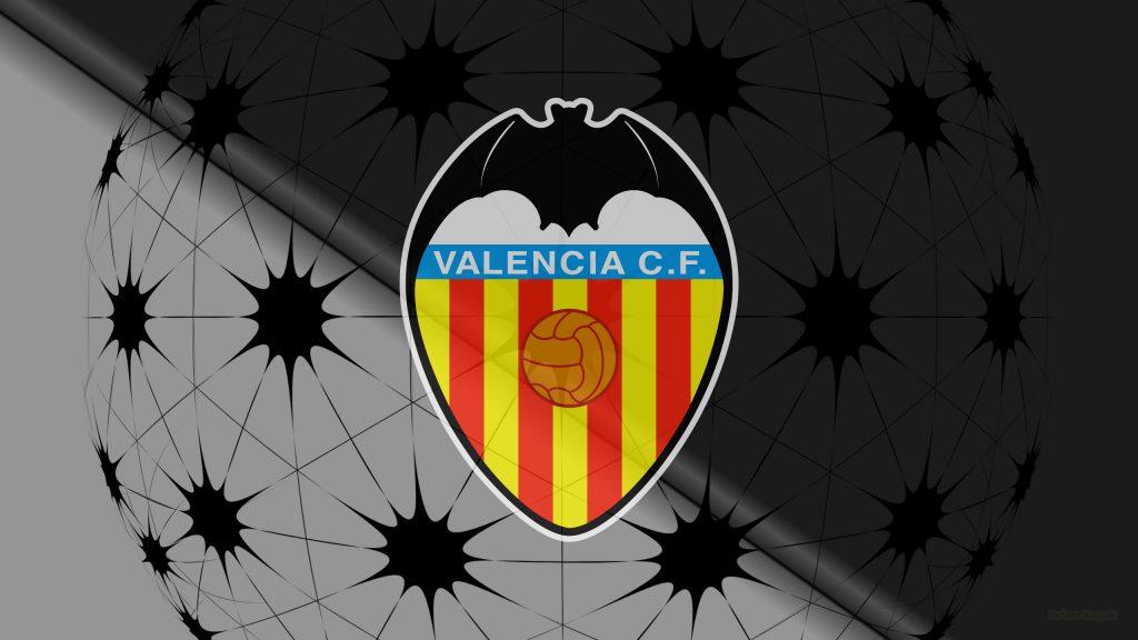 Black Valencia C.F. football logo wallpaper