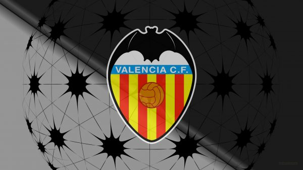 Black Valencia C.F. football logo wallpaper