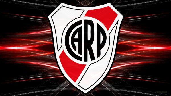 Black red CA River Plate desktop background
