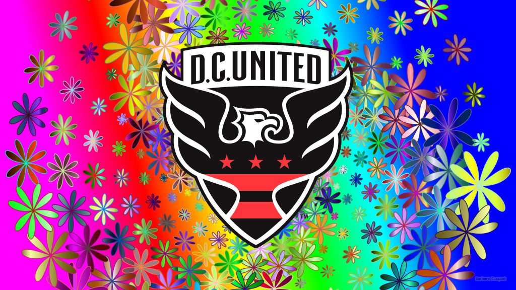 Colorful DC United wallpaper flowers