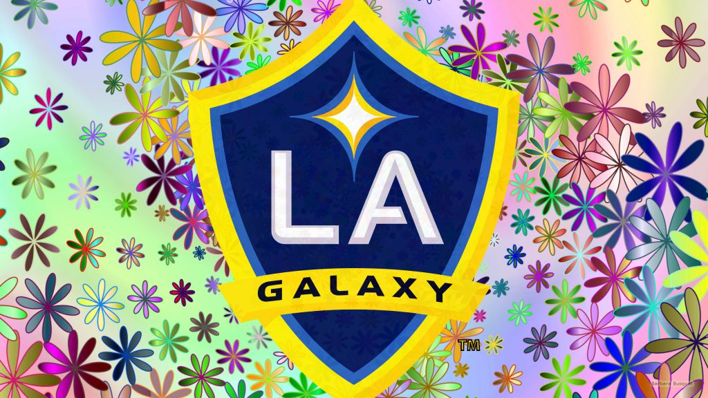 Colorful Los Angeles Galaxy background flowers