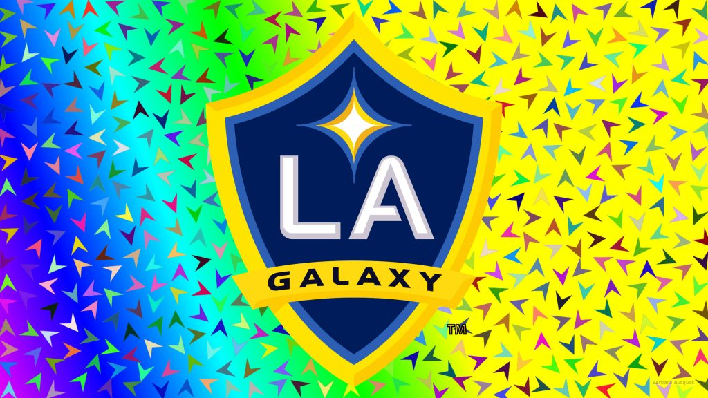 Colorful Los Angeles Galaxy logo wallpaper