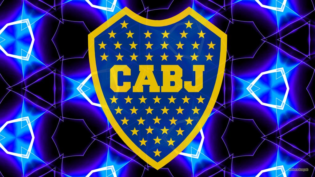 Dark CA Boca Juniors logo wallpaper