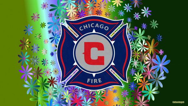 Green Chicago fire fc wallpaper flowers