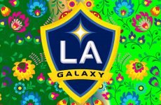Green LA Galaxy wallpaper flowers