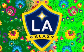 Green LA Galaxy wallpaper flowers