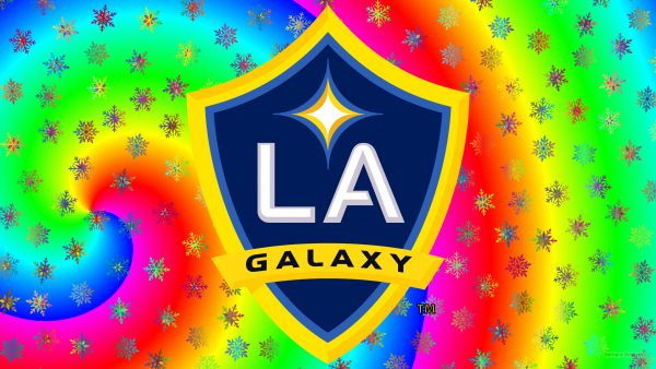LA Galaxy logo wallpaper ice stars