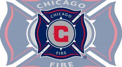 Light Chicago fire football logo wallpaper