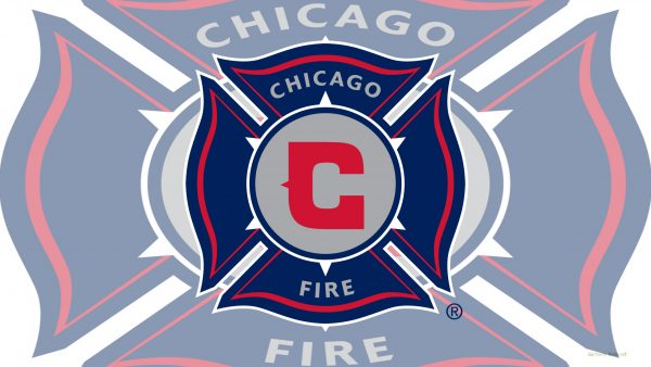 Light Chicago fire football logo wallpaper